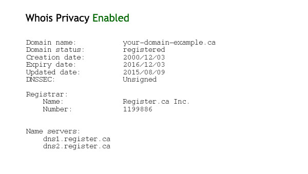Whois Privacy